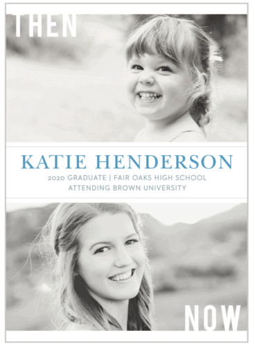 Then and Now graduation announcement